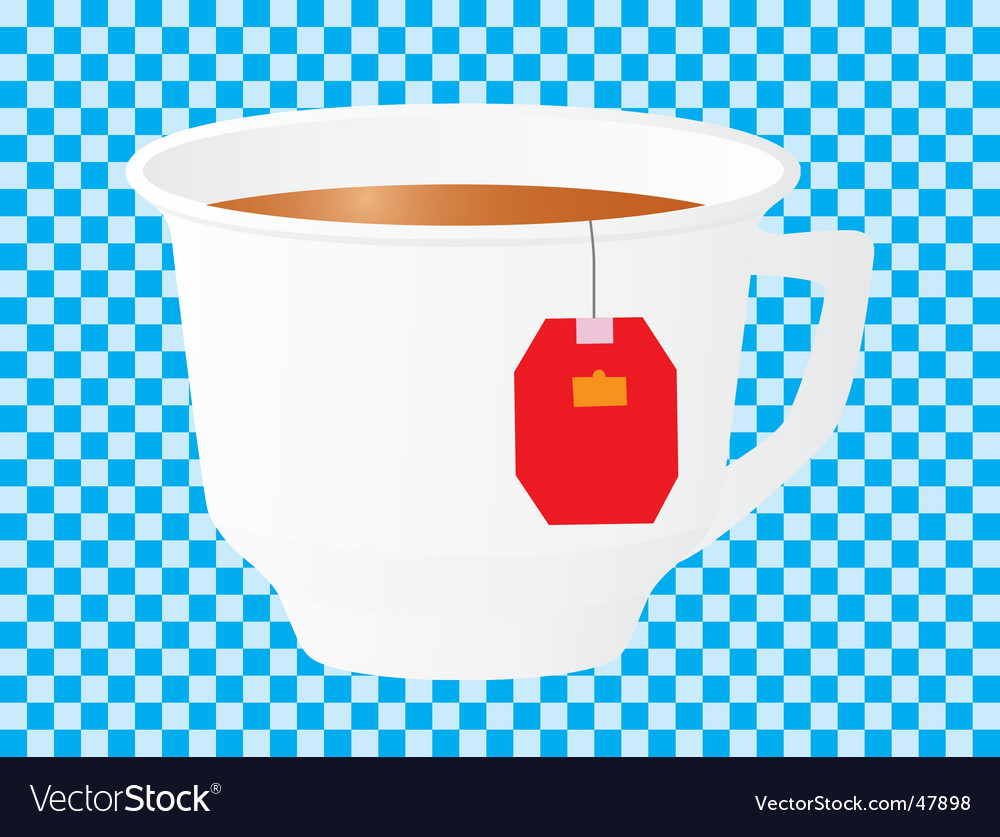 Morning cup of black tea vector | Price: 1 Credit (USD $1)