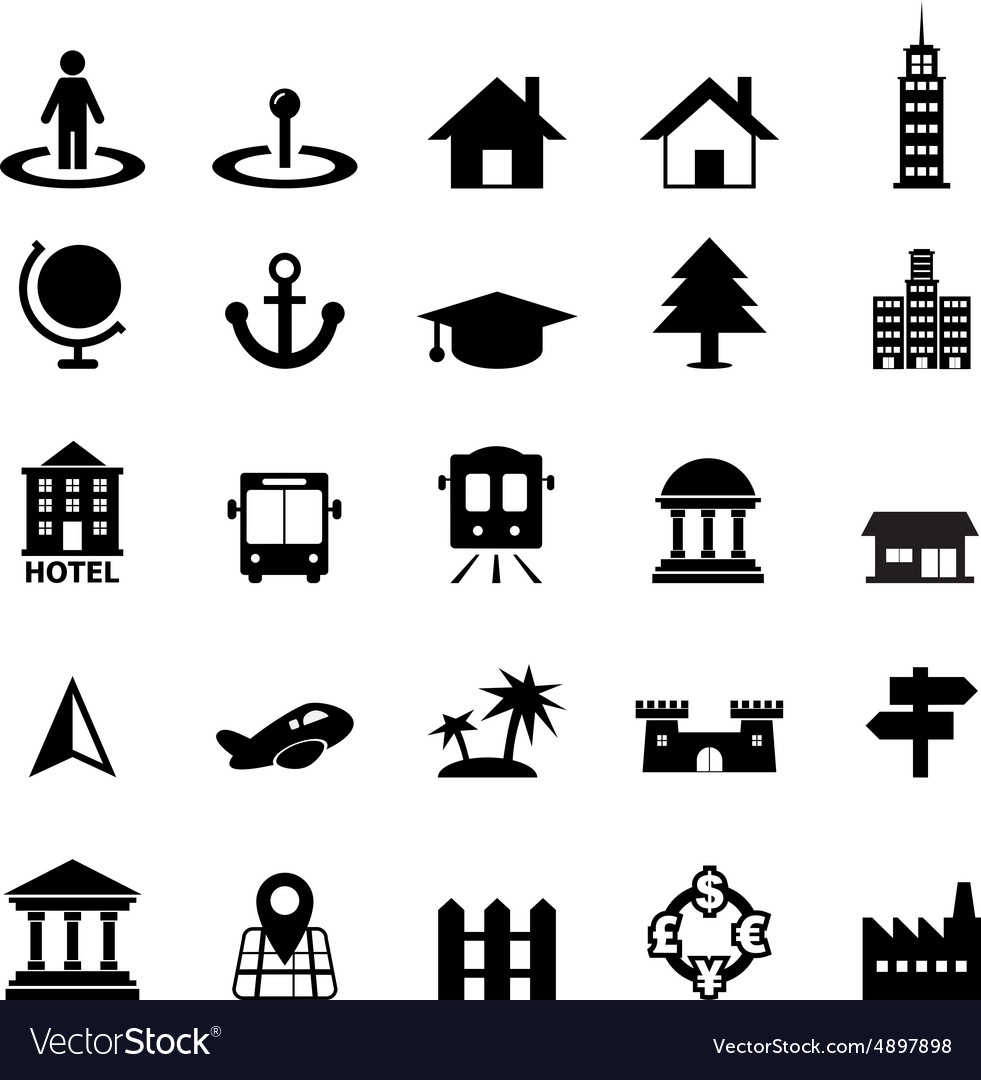 Place icon vector