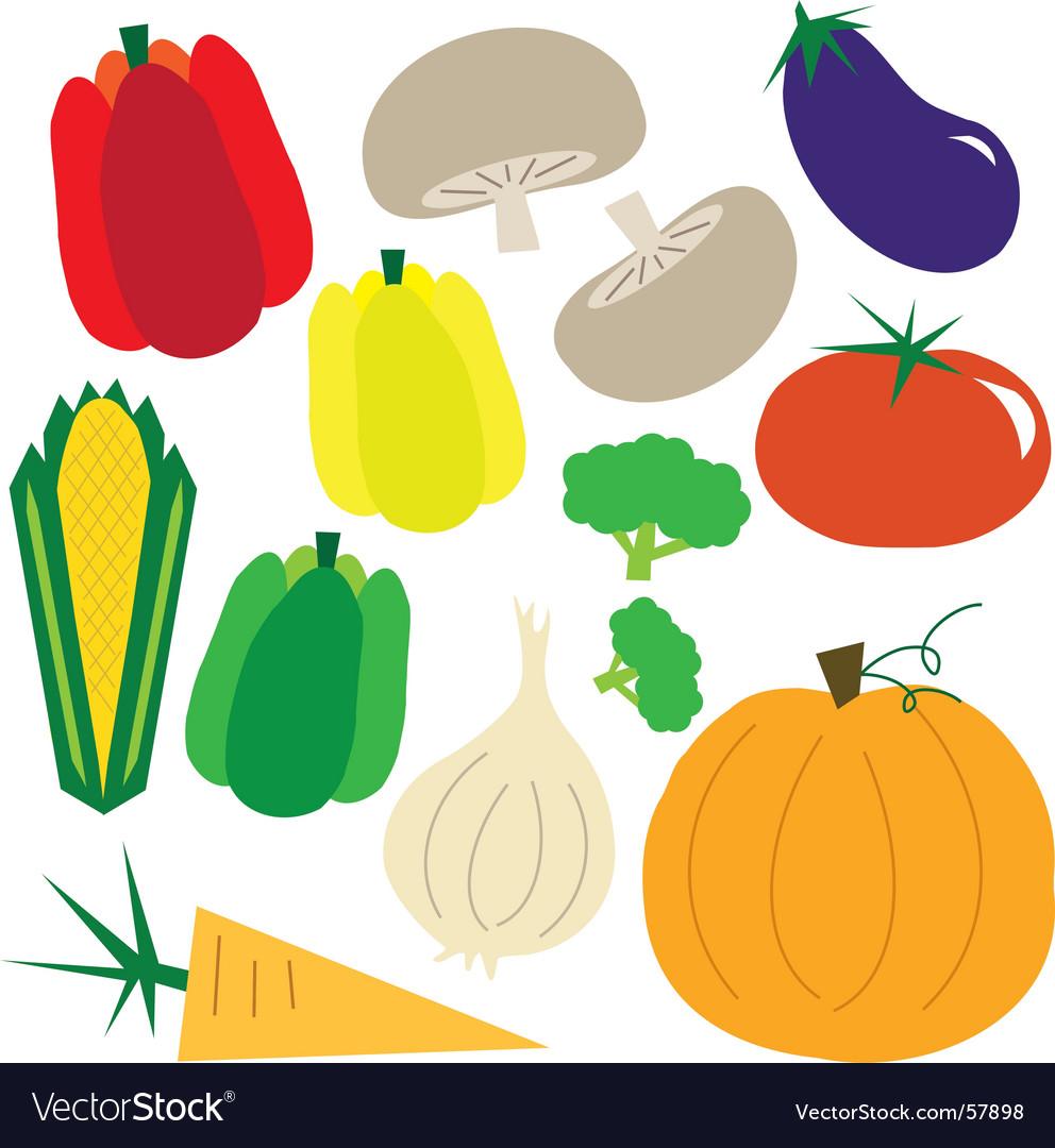 Simple vegetables vector | Price: 1 Credit (USD $1)