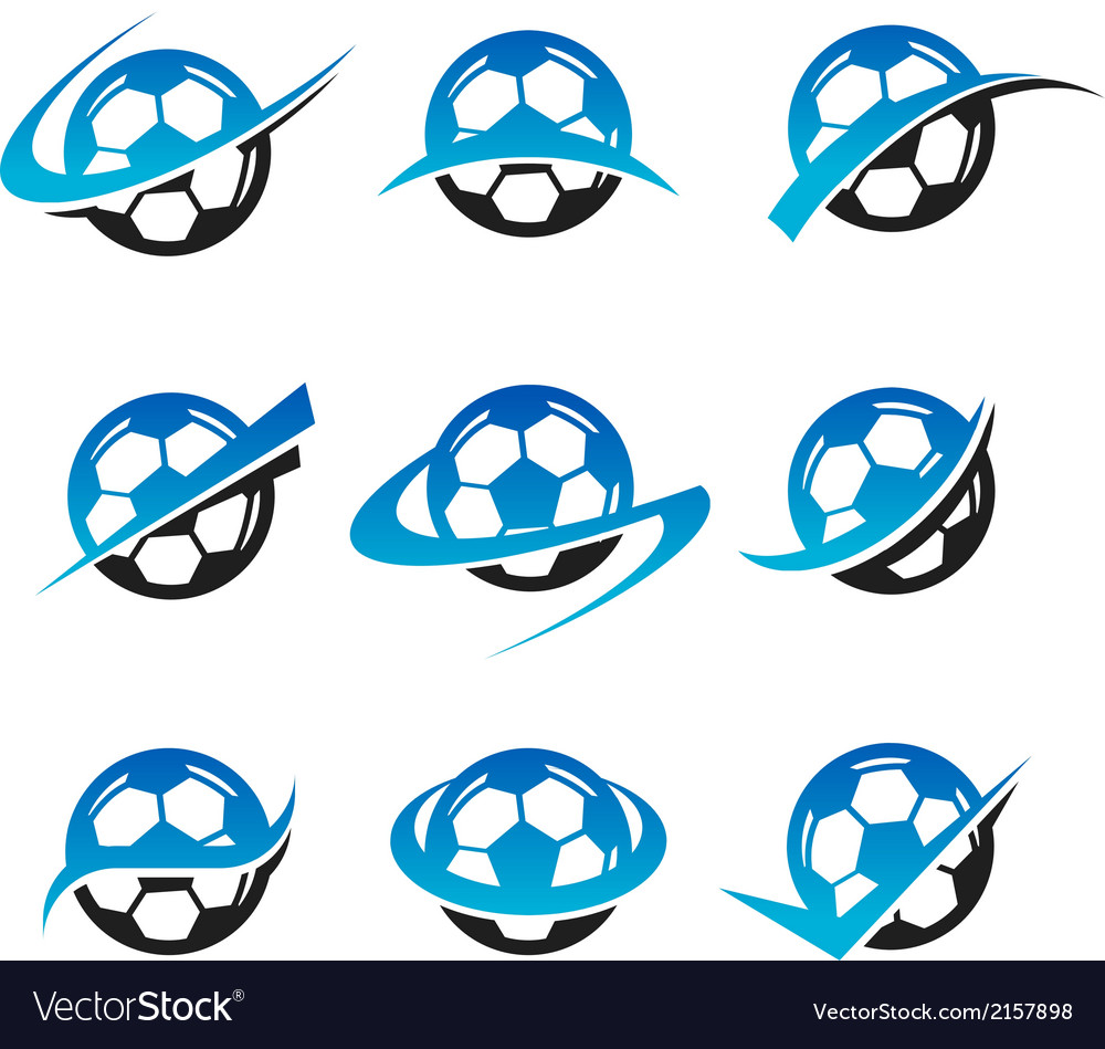 Soccer ball logo icons vector | Price: 1 Credit (USD $1)
