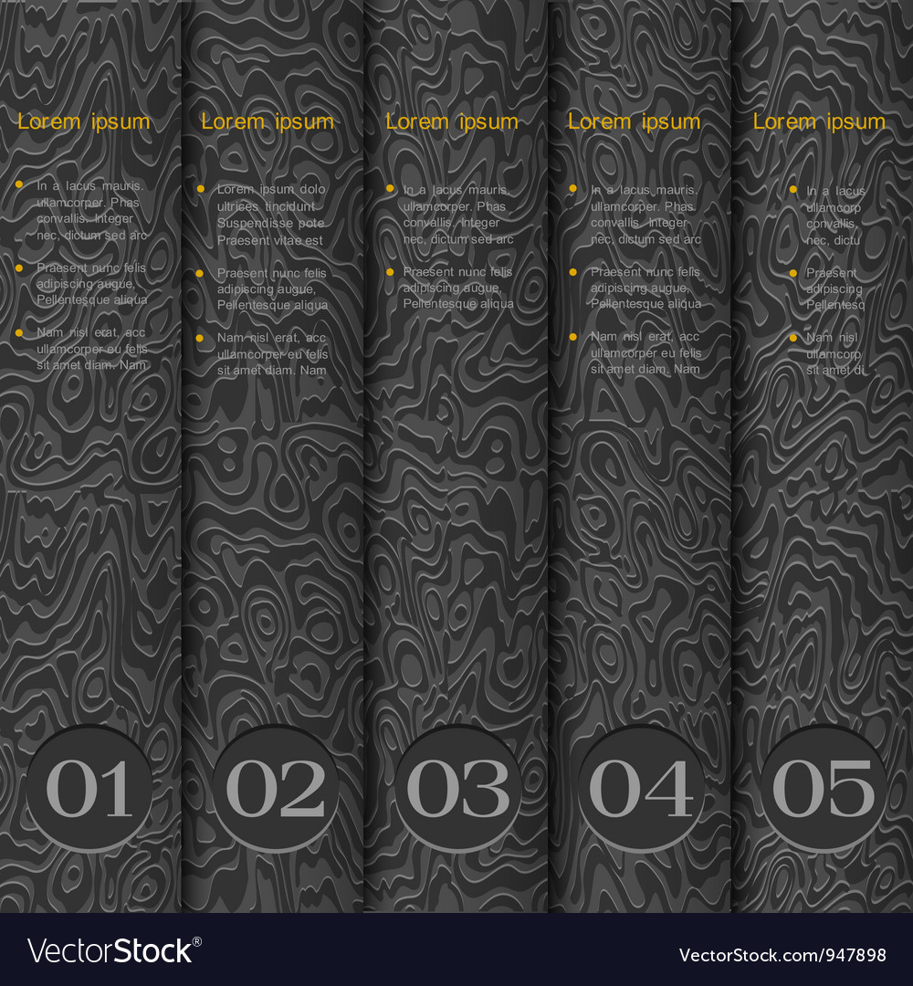 Textured paper numbered banners vector | Price: 1 Credit (USD $1)