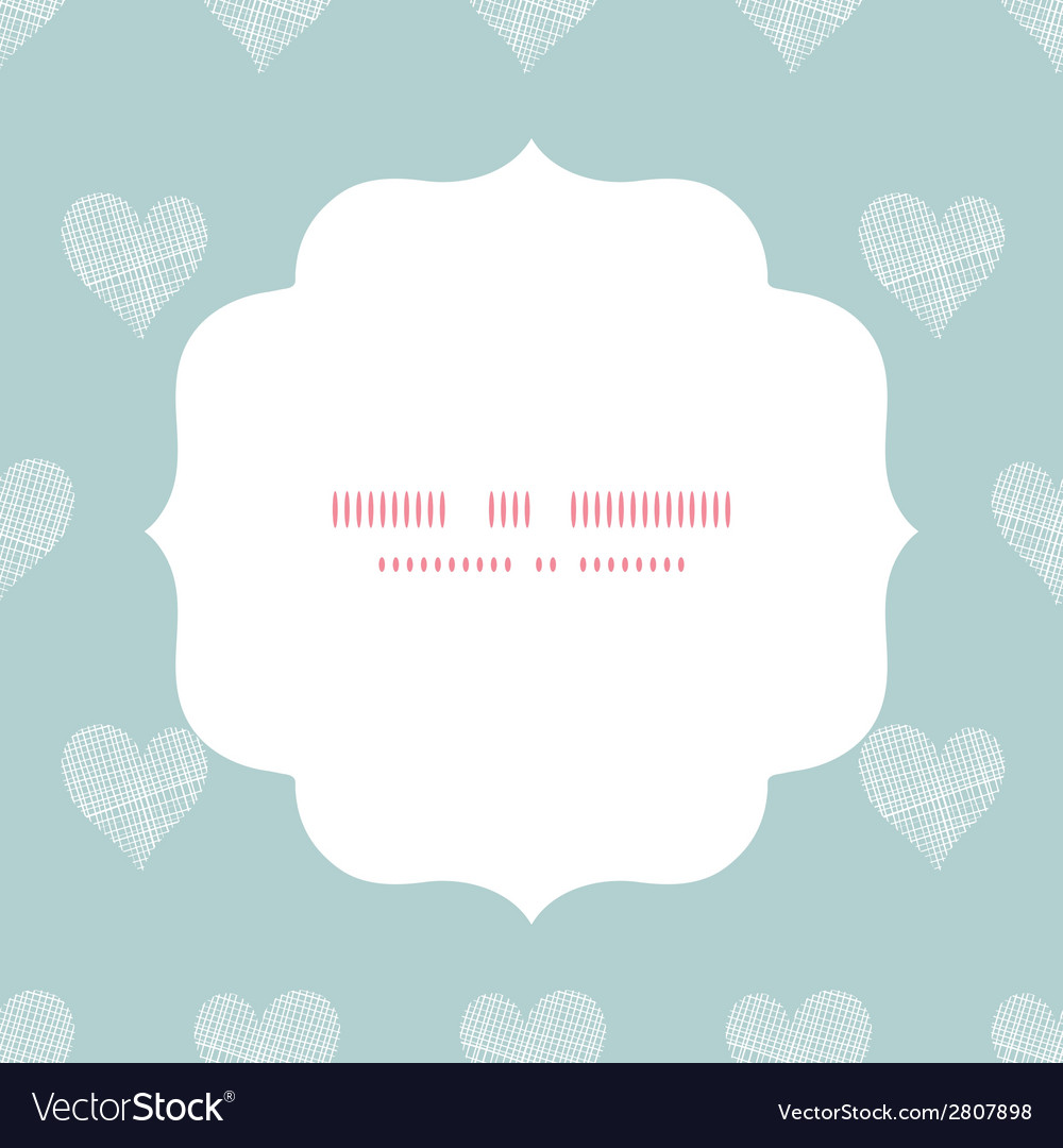 White lace hearts textile texture white frame vector | Price: 1 Credit (USD $1)