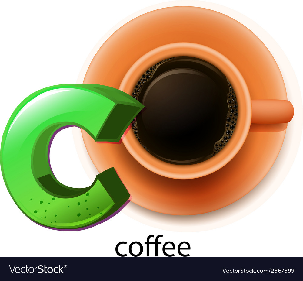 A letter c for coffee vector | Price: 1 Credit (USD $1)