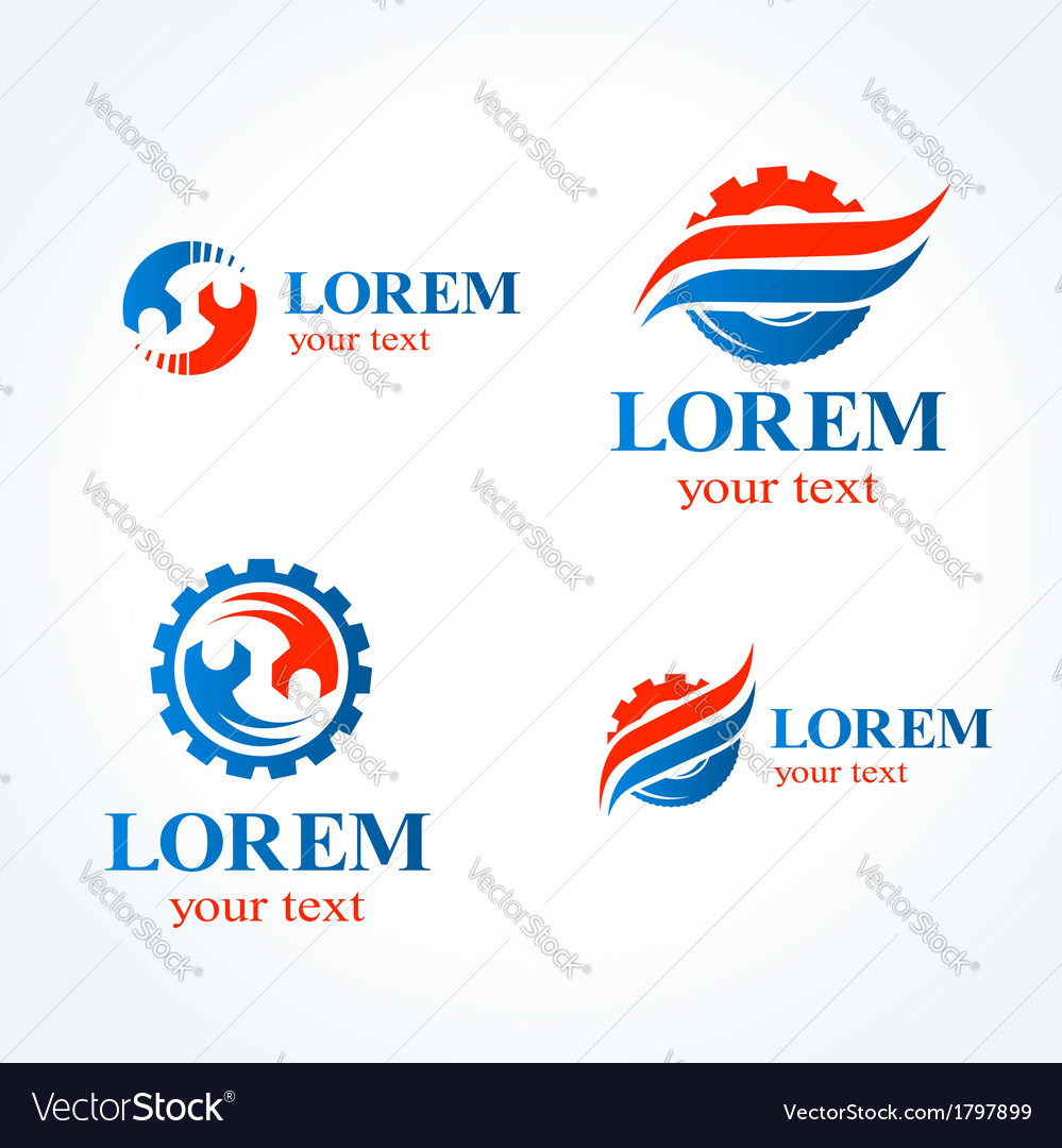 Car service symbol emblem sign set vector | Price: 1 Credit (USD $1)