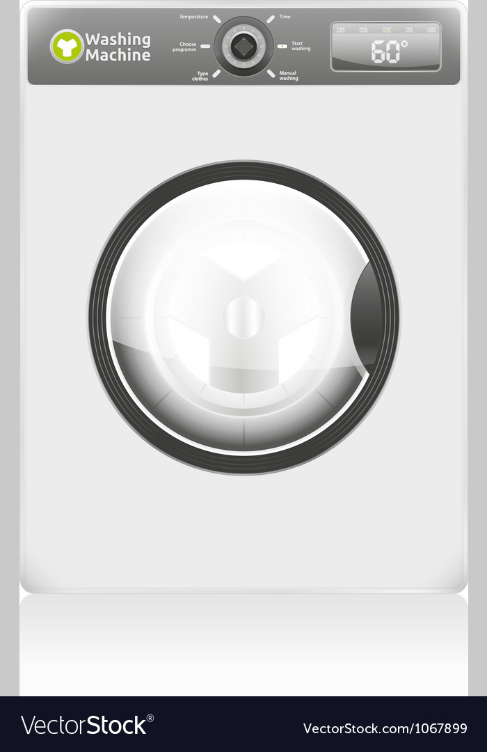 Cleaning machine vector | Price: 3 Credit (USD $3)