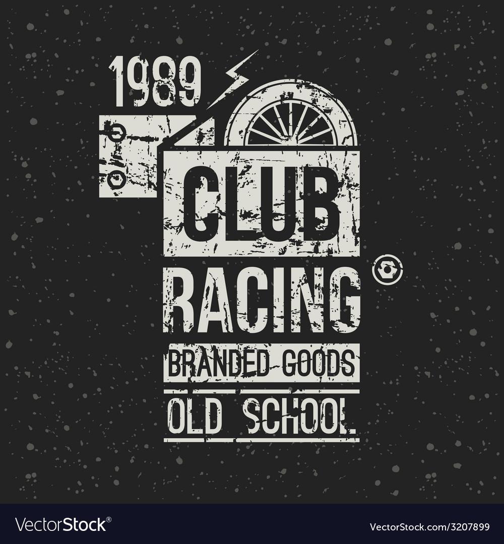 Emblem racing club vector | Price: 1 Credit (USD $1)