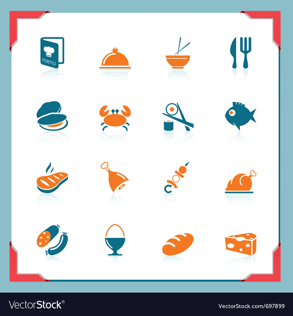 Food icons - in a frame series vector | Price: 1 Credit (USD $1)
