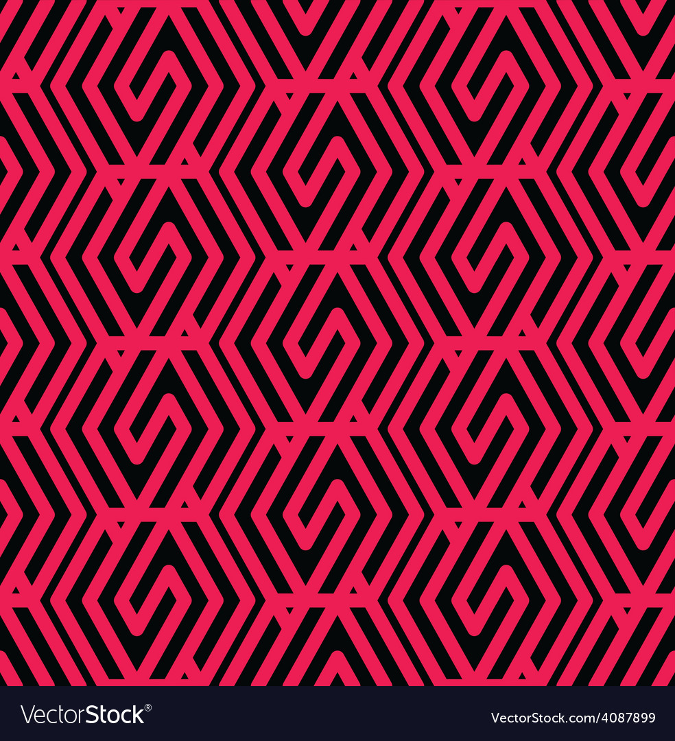 Geometric messy lined seamless pattern colorful vector | Price: 1 Credit (USD $1)