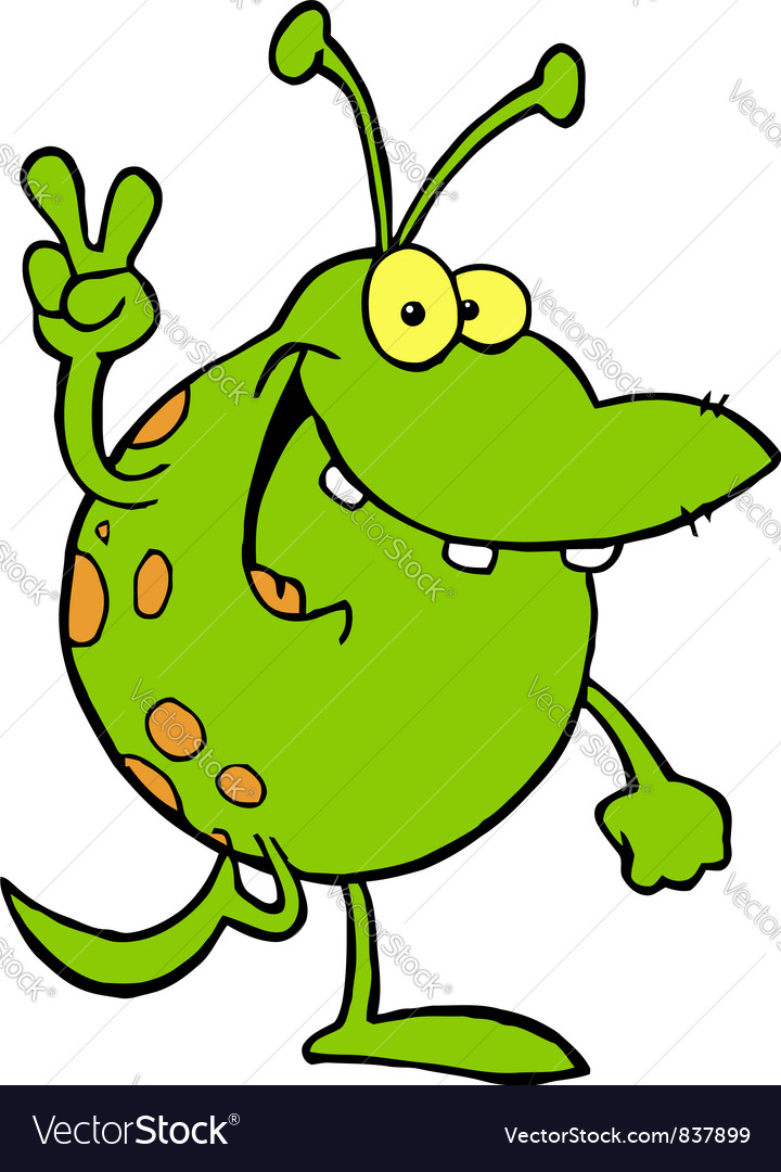Green alien vector | Price: 1 Credit (USD $1)