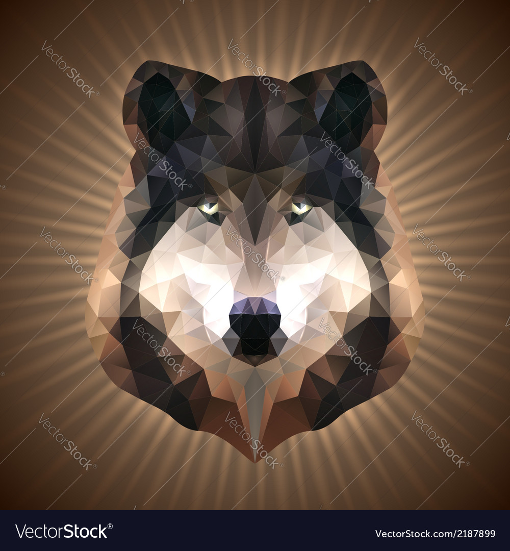 Polygonal wolf vector | Price: 1 Credit (USD $1)