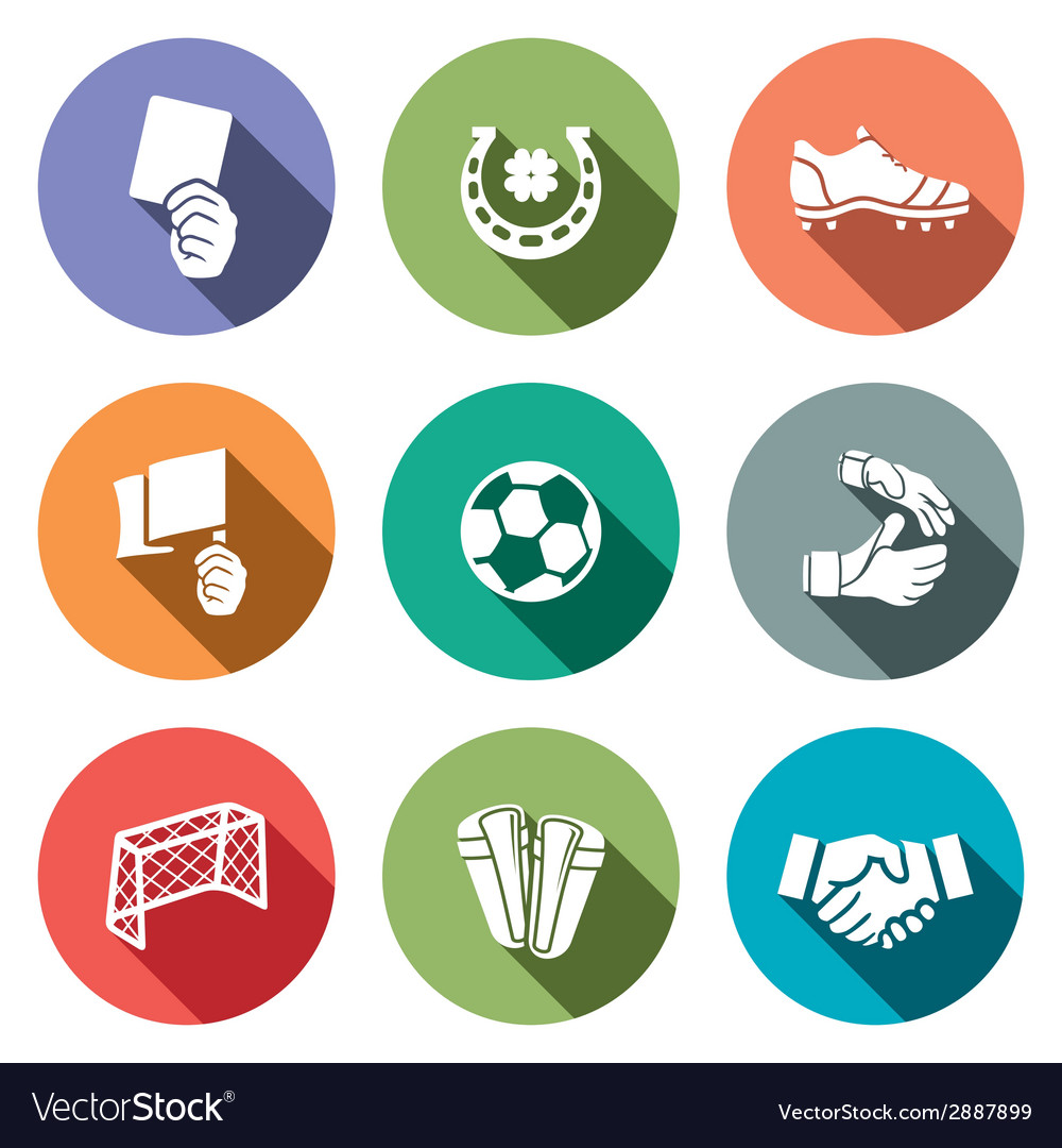 Soccer color icon collection vector | Price: 1 Credit (USD $1)