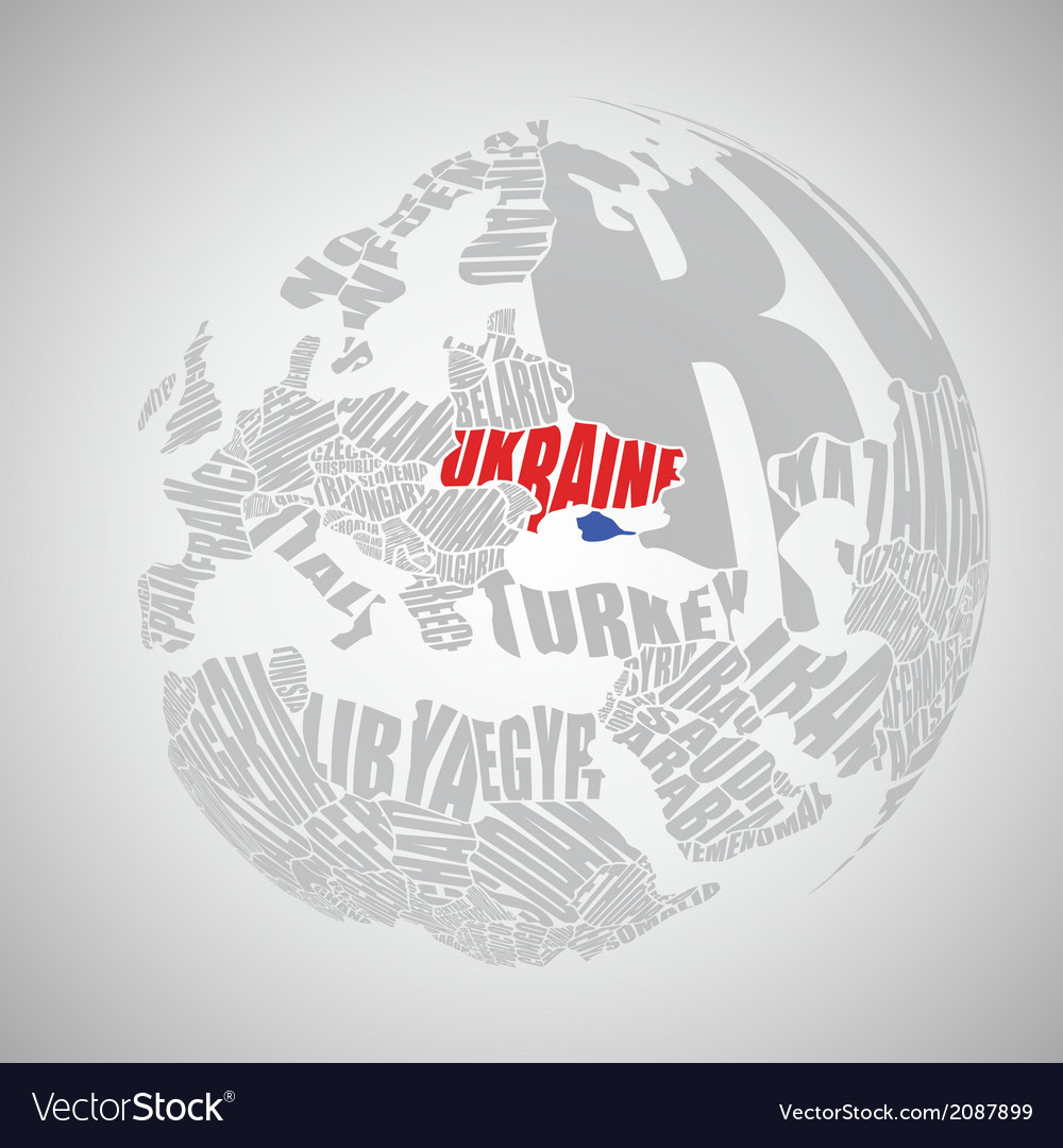 Text world map vector | Price: 1 Credit (USD $1)