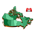 Map canada vector