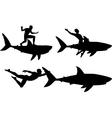 Shark rider vector