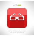 Cinema 3d glasses icon in modern clean and simple vector