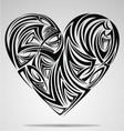 Heart shape tribal vector