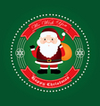 Happy christmas from santa vector