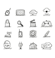 Web hand drawn icons vector