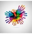 Hand print icon vector