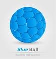 Blue ball elegant icon vector
