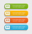 Colorful realistic web buttons vector