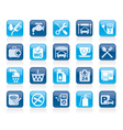Petrol station icons vector