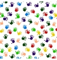 Colored hand print icon vector