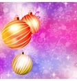 Background with christmas balls eps 10 vector