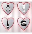 Hearts collection valentines day vector