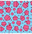 Sweet cupcake pattern vector