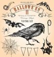 Vintage halloween set vector