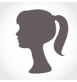 Girl face silhouette isolated on white simple vector