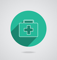 Medical white icon in line vector
