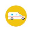 Ambulance car icon vector