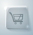 Cart online store glass square icon vector