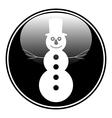 Snowman button vector