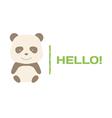 Brown panda logo vector