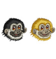 Gibbon faces vector