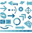 Blue arrows sign vector