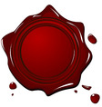 Illustration of wax grunge red seal vector