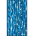 Abstract blue waves pattern background vector