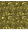 Love doodle pattern background vector