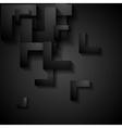 Dark geometry corporate background vector