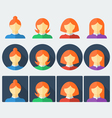 Flat woman icons vector