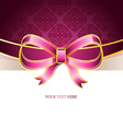 Ribbon vintage bow vector