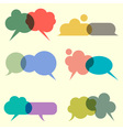 Various bubbles for speech vector