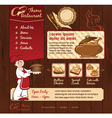 Restaurant wood template with chief vector