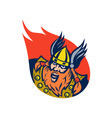 Viking warrior or norse god vector