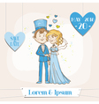 Bride and groom - save the date wedding card vector