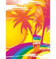 Surfboard and tropical rainbow vector